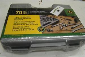 "John Deere 70-Piece 1/4"" - 3/8"" Drive SAE/Metric Socket and Wrench Set - TY19996"
