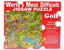 Most Difficult Golf Puzzle Jigsaw 529 Double Sided World Edition Buffalo Games