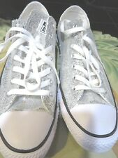e537f3830867 New,Converse Silver Sequins Chuck Taylor Shoe Sneaker Women's-13,Men's-11