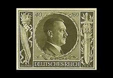Incorniciato stampa-Adolf Hitler 54A COMPLEANNO tedesco TIMBRO 1944 (foto poster arte)