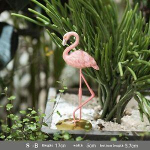 Nordic Creative Pink Flamingo Resin Sculpture Home Decoration Animal Statue Arts