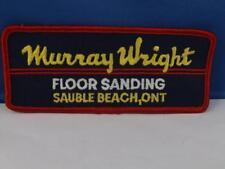 MURRAY WRIGHT FLOOR SANDING SAUBLE BEACH ONTARIO HAT JACKET PATCH VINTAGE