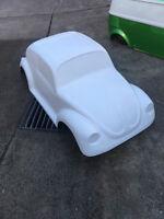 VW Beetle hot rod stroller pedal car fiberglass body rat rod