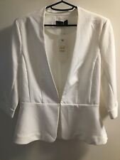 Temt white/cream Peplum Jacket Size 8