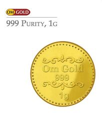 Om Gold 1 gm 24k(999) Purity Gold Coin