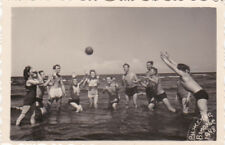1948 nude muscle men women play on the beach gay interest Russian Soviet photo