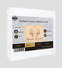 Full Bedbug Water Resistant Quilted Mattress Cover Protector - Xquisite Luxuries