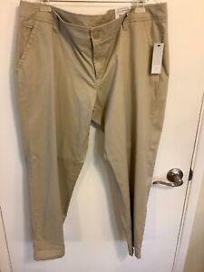 Liz Claiborne Classic Chino  Dark Dune Size 18 Pants