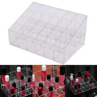 Acrylic 24 Slots Cosmetic Organizer Makeup Case Holder Display Stand Storage