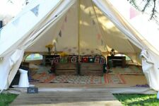 6M Cotton Canvas Bell Tent Tent Waterproof Camping Glamping Outdoor Yurt Party