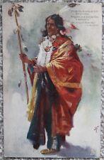 Song of Hiawatha Longfellow Vintage Early 1900s Postcard Artist J.F Raphael Tuck