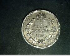 1916 Canada, Five Cents, Medium to High Grade Cir, .0336 oz Slv (Can-599)