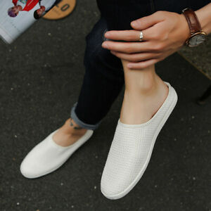 Men's Casual Comfort Slingbacks Slippers Slip On Loafers Flats Breathable Shoes