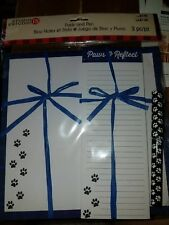 Studio 18 w/ paws and reflect Note Pads & Pen (Red & Black Plaid)