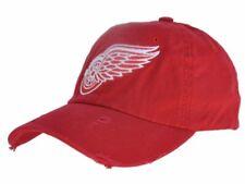 Detroit Red Wings Retro Brand Red Worn Vintage Flexfit Slouch Hat Cap
