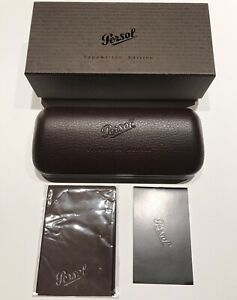 Persol Sunglasses Eyeglasses Hard Brown Leather Case Limited Edition