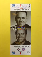 Sam Pollock Montreal Canadiens Ticket Autograph Signed Auto