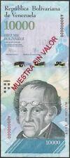 Billete especimen 10.000 Bs. venezuela...UNC