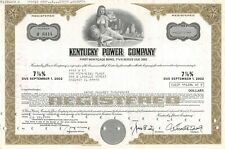 New listing Kentucky Power Company Registered Bond Certificate Various Values