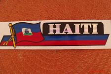 Haiti Flag Reflective Sticker, Coated Finish, Side-Kick Decal 12x2/12