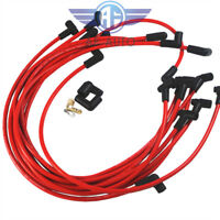 Red JDMSPEED Ultra 40 Spark Plug Wires Set For Big Block Chevy BBC 454 502 HEI
