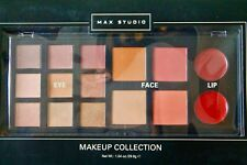 Max Studio Makeup Collection 15 Pieces 9 Eye 4 Face 2 Lip Sealed New In Box