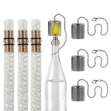 LANMU Wine Bottle Tiki Wicks Kit,Tiki Torch Wicks,Wine Bottle Wicks,Replacement