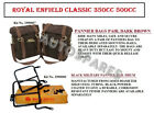 """Royal Enfield """"Dark Brown"""" Color Military Pannier &Fitting For Classic 350 500"""