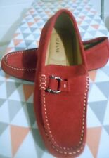 ALFANI SHOES RED SUEDE LEATHER SIZE 8.5 M FLAT SOLES SLIP ON NEW NO TAGS