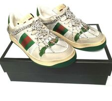 Gucci Screener crystal-embellished low-top sneakers size 36 NIB
