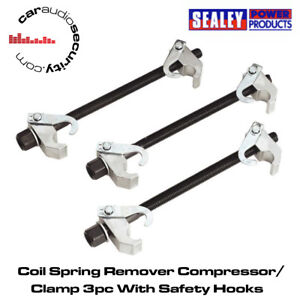 Sealey AK384 - Car Coil Spring Remover Compressor/Clamp 3pc With Safety Hooks