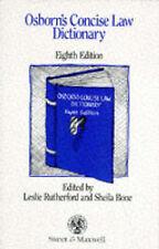 """""""VERY GOOD"""" Osborn, P.G., Osborn's Concise Law Dictionary, Book"""