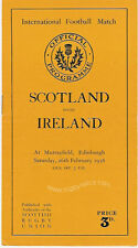 SCOTLAND v IRELAND 1938 RUGBY PROGRAMME 26 Feb at MURRAYFIELD