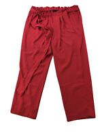 NEW Lane Bryant Women's Red Ankle Length Dress Pants Sz 22 W/ Belt