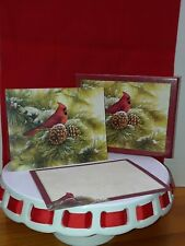 December Dawn Cardinal 5.375 In X 6.875 In Christmas 7 count with box