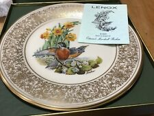 4 Limited Edition Lenox Boehm Bird Plates Boxed 1977 -1981 Made in Usa