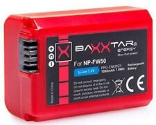 TESTSIEGER! BAXXTAR Pro Energy Akku für Sony NP-FW50 1080mAh NEX SLT ALPHA usw.