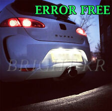 SEAT LEON MK1 MK2 XENON PURE WHITE NUMBER PLATE LED LIGHT BULBS- ERROR FREE