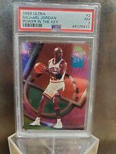 Michael Jordan 1993 Ultra Power In The Key #2 PSA 7 HOF Chicago Bulls - POP 113