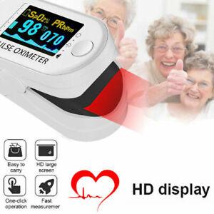 Fingertip Pulse Oximeter Blood Oxygen Saturation Meter SPO2 Monitor Finger UK PI