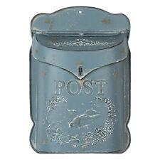 Nostalgischer Briefkasten 38x8x26 Blau Wandbriefkasten Post-Kasten Clayre & Eef