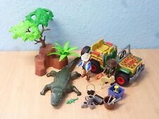 Alligator Jäger mit Jeep Figuren zu Safari Abenteuer 4826 TOP Playmobil 084