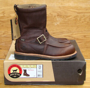 """REDWING Irish Setter Wingshooter 9"""" Brown Leather Side Zip Boots 839 Men 11.5 EE"""