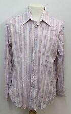 "JOHN LEWIS White Men's Striped & Paisley Formal Shirt Size Collar 16.5"" 42cm"