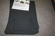 2 original Mercedes Benz Gummi Fuss Fuß matten vorn schwarz SLK R171 Roadster