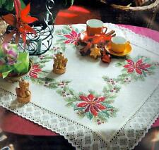 Nob Hill LACY POINSETTIA TABLE TOPPER Embroidery KIT ~ NEW