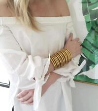 Bracelets Bangles Bouddhistes or porte bonheur - 5 pièces