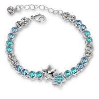 Damen Zirkonia Stern Armband Silber Kristall Ketten Hand Modisch Tennis Glieder