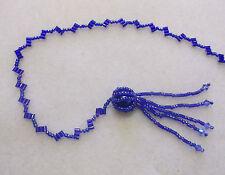Simple débutant Beading Kit-Diamond Zigzag Chaîne-Moody Blue