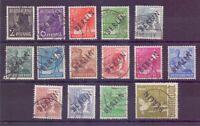 Berlin 1948 - 15 Werte Schwarzaufdruck aus MiNr.1/17 gest. Michel 375,00 € (779)